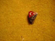 Vintage RARE Turkey Federation football soccer badge button hole sign pin