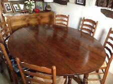 Beautiful oak double gate leg wake dining table