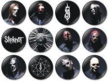 12 x Slipknot 32mm BUTTON PIN BADGES Heavy Metal Taylor Maggots Mask IOWA Gray