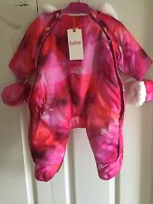 TED BAKER BABY Girl's SNOW SUIT With Mittens. AGE 0-3 MONTHS. BNWT. Designer