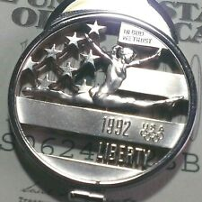 Gymnastics Coach USA Olympic Thank You Gift Money Clip Half Dollar Cut Coin