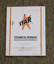 Star Machine 1265 Disc n' Drum Brake Shop Brake Lathe Instructions & Parts Guide
