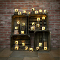 Battery Alphabet A-Z Letter Initial Flickering Wax Glass Jar Candle | Vanilla