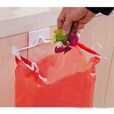 Trash Bag Holder Garbage Rubbish Waste Storage Under Cabinet Over the Door Rack