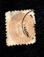 AUSTRIA(Lombardy-Venetia), Sc#19, 1863, 15 Soldi, Avg-fine,Used