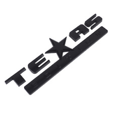 2pcs Texas Edition Black Trunk Boot Side Fender Emblems Badges Decals