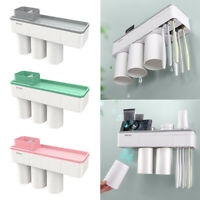 Home Bathroom Toothbrush Holder with Magnetic Mug Wall Mount Stand Rack