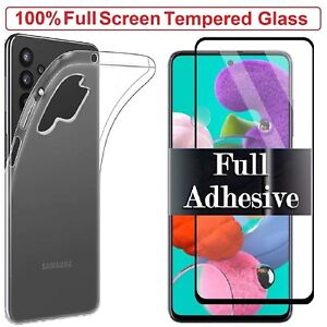 For Samsung A52s 5G Case Cover + Tempered Glass Screen Protector Galaxy A52s 5G
