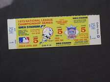 1973 NLCS PLAYOFF GAME #5 METS/REDS FULL TICKET
