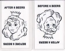 Princess / Old Woman - One id card Drivers License - Before / After 6 Beers