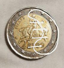 2 EURO GRECIA  2002 S GREEK, ERRORE, UOVO, SPIEGELEI,ERROR,FAUTÉE,FRAPPÉ,FAUTÉ