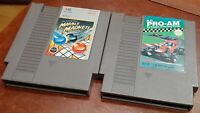 Nintendo NES R.C. Pro Am & Marble Madness carts, cleaned & tested, authentic