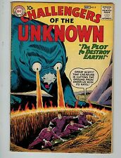 Challengers of the Unknown #9 (Aug-Sep 1959, Dc)! Vg4.5+! Silver age Dc beauty!
