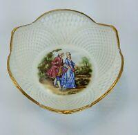 Vintage Ceroc CLUJ-NAPOCA Laceware Bowl Candy Dish Porcelain Ceramic Romania