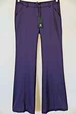 NWT Flavio Castellani Purple Viscose Wool Blend Dress Career Pants Size 42