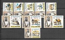 FUJEIRA Sc C1-9 NH issue of 1965 - ANIMALS BIRDS