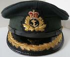 Vintage Royal Canadian Navy SENIOR OFFICER'S Peaked Cap 1974 Size 7-1/4 GREEN