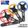 170mm Single Crankset 30-52T 104bcd MTB  Bike Crank set Chainset Chainring