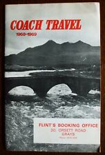 1968/1969 Coach Travel Fare Table Booklet  - Great Britain - Issued by Flint's.