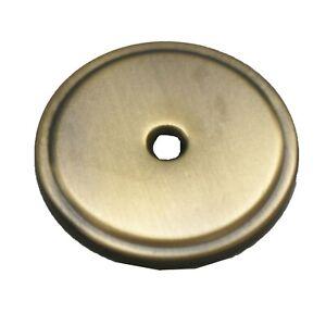 "STONE HARBOR 1-3/4"" Round Knob Pull Backplate Antique Brass 30119-02 25+FREESHIP"