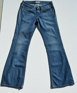Womens Lee GALE Regular Flared Stretch Light Blue Jeans W28 L31 Size 8