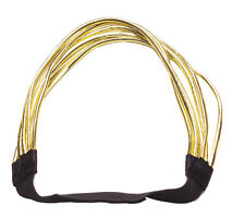 Exuberant & glam- luscious golden strand/ black stretchy hair band(ZX241)