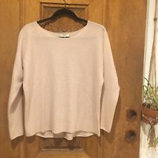 JOIE cashmere Knit Sweater SMALL pink Blush Long Sleeve