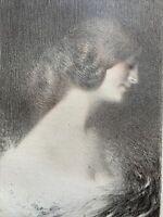 Charles LEANDRE lithographie En Couleurs gravure Etude