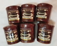 Yankee Candle Votive Candles: WHOOPIE PIE Melt Wax Brown Food New Lot of 6 Rare