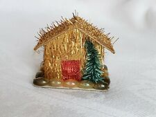 Vintage House Village Christmas Gold Collectible Rare Early Tree Beads Rare