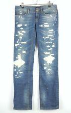 Dolce & Gabbana Girly Jeans Damen Gr 27 destroyed straight leg very low waist