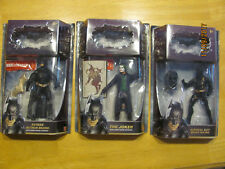 Lot The Dark Knight action figures Batman Begins, The Joker, and Bruce Wayne