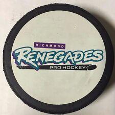 1990's Richmond Renegades Game Used Hockey Puck ECHL