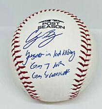 LA Dodgers Cody Bellinger Signed 2018 Postseason Baseball MLB Fanatics Hologram