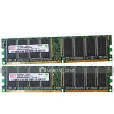 Hynix 2GB KIT 2x1GB PC3200 DDR 400Mhz 184Pin Desktop PC DIMM Memory Low Density
