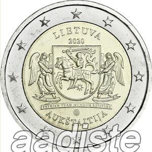2 EURO 2020 LITUANIA LITAUEN LITUANIE LITHUANIA - AUKSTAITIJA - FDC UNC