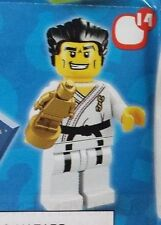 Lego 8684 Series 2 #14 Black Belt KARATE MASTER figure Minifigure New Sealed