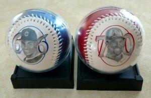 Cardinals Mark McGwire Cubs Sammy Sosa HR History Chase Commemorative Baseballs