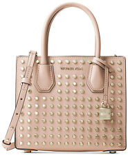 Michael Kors Mercer Medium Stud Messenger Bag Tote Ballet Pink - NEW in Package