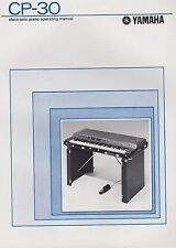 1970s YAMAHA CP-30 ELECTRIC PIANO KEYBOARD - Original Operating Manual