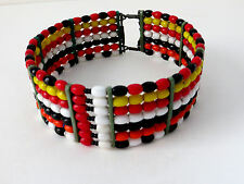 Kenya Africa - Rare 11 3/4 inches Vintage Maasai hand made choker necklace from