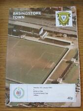 13/01/1990 Basingstoke Town V BASS (Alton) [Hampshire Senior Cup]. l'oggetto in molto