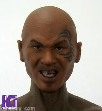 Goahead Custom 1/6 MIKE TYSON figure head sculpt w tattoo black male boxing