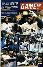 PRINCE FIELDER COVER MILWAUKEE BREWERS 2011 OFFICIAL GAMEDAY PROGRAM ISSUE #26