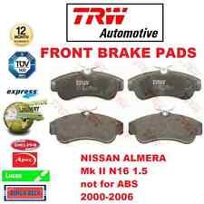 Para Nissan Almera Mk II N16 1.5 No ABS 2000-2006 Eje Delantero Pastillas de