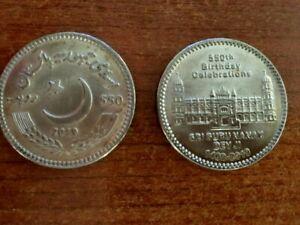 PAKISTAN 550 RUPEES 2019 SIKH Guru Nanak Birth Commemorative UNC SIKHISM 1 Coin