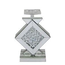 HOME ASTORIA Specchio Chiaro Diamante Vetro Tè Leggero Candela Votiva Titolare Ornamento