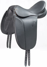 """New Beautiful black Dressage Leather Saddle sizes 17.5"""""""