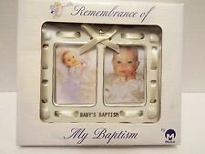 Baby's Unisex Baptism Double Photo Frame Malco Nib