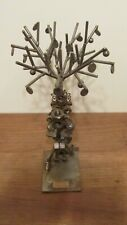 "HINE & KUNST METAL NUTS BOLTS NAILS SCULPTURE 11"" TALL GERMANY"